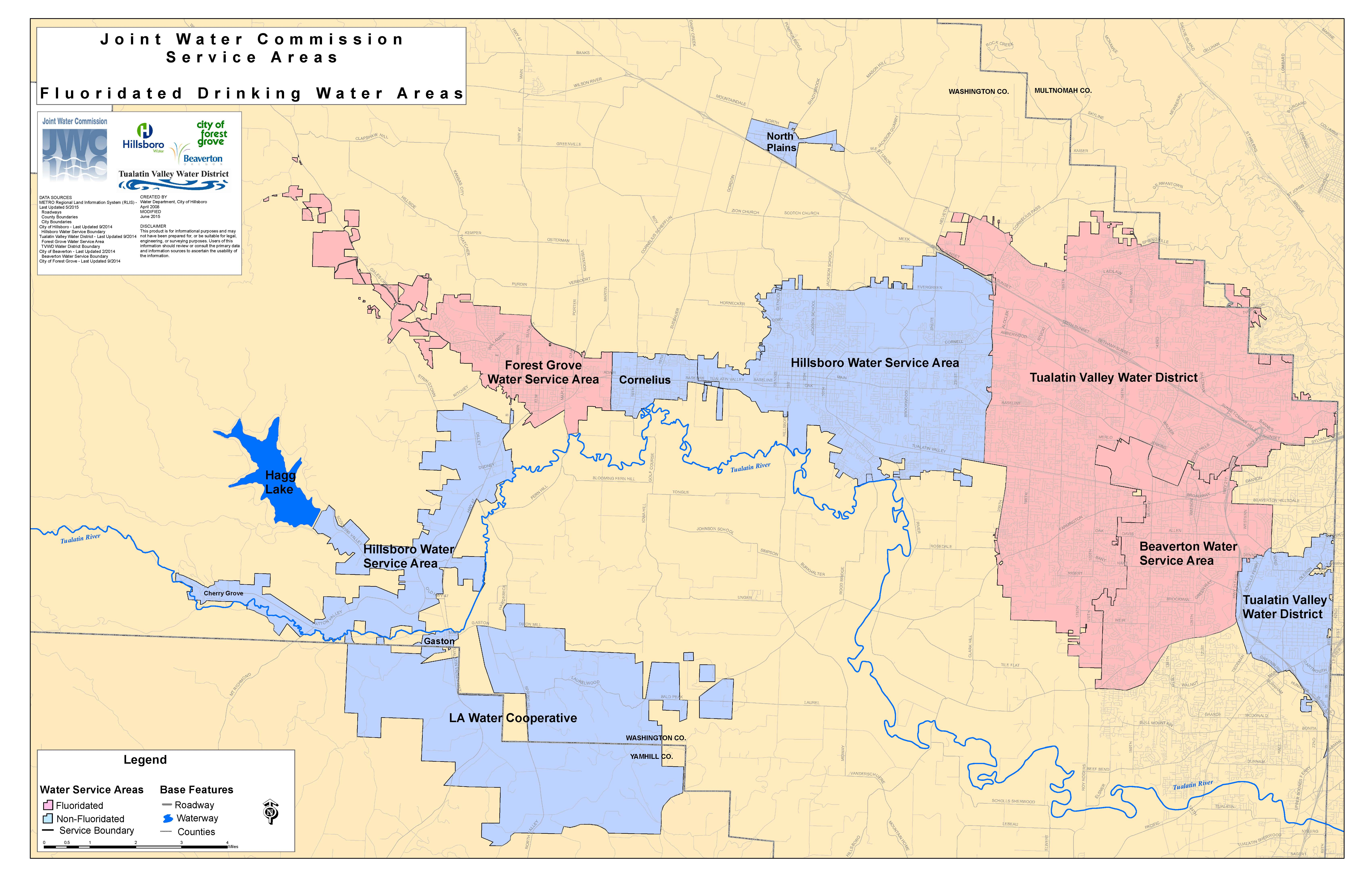 Fluoridation Map Joint Water Commission